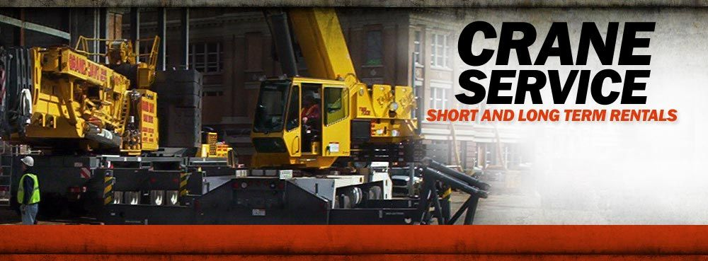 Crane Service. Short and Long Term Rentals