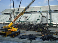 Grand Davo Crane - U2 Stage at MSU Spartan Stadium